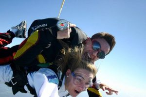 tandem skydiving have felt or experienced a bit of nausea or a feeling of passing out. This may occur once the parachute canopy is opened and can remain till the person lands safely